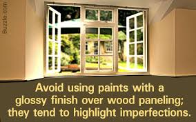 how to paint over paneling