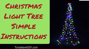how to make christmas lawn decoration simple light tree youtube
