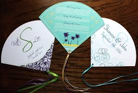 program fans for wedding fan wedding invitations custom wedding program fans fan wedding