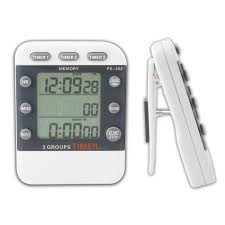 lcd digital 3 channel alarm timer electronic countdown clock