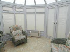 Hillarys Blinds Northampton Infusion Black Pleated Blinds In A Conservatory Conservatory
