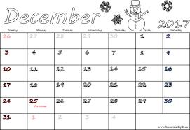 december 2017 calendars pdf free printable pdf