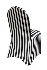 stretch spandex banquet chair cover black and white striped