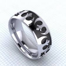 Lord Of The Rings Wedding Band by Geeky Rings Custommade Com