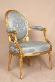Heaven Antiques And Custom Furniture Los Angeles Ca Fine Early 19th Century Gilded French Louis Xvi Antique Fauteuil