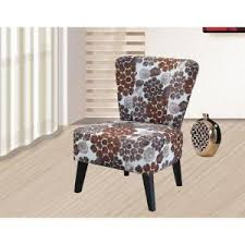 Patterned Accent Chair Purple Fabric Accent Chair C 051 The Home Depot