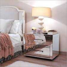 glass mirrored bedside tables uk narrow mirrored console