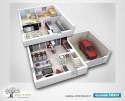 plan maison etage 3 chambres plan maison 3 chambres etage tage bon prix pour plan de maison
