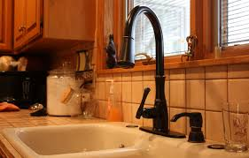 simple black kitchen faucet high end vessel wall mount glacier bay
