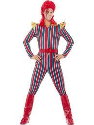 Ziggy Stardust Halloween Costume Ziggy Stardust Adults Fancy Dress David Bowie 80s Celebrity Mens