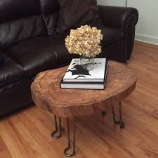home decorating art oval cut log slices and tree rounds table legs