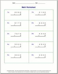 the math worksheet site com multiplication single digit