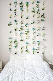 Bedroom No Wall Space Diy Flower Wall Headboard Home Decor Wall Headboard