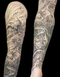 tattoos designs with dinosaur sleeve ideas great tattoo ideas