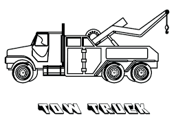 Semi Ornaments Coloring Pages Ornaments Tow Truck Preschool In Page