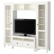 Ikea Tv Furniture Billy Bookcase Combination With Tv Bench White Ikea Design