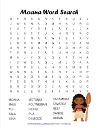 moana word search free printable monorails and magic
