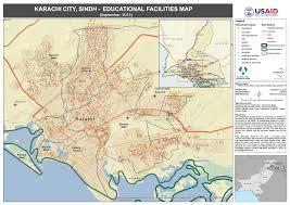 map of karachi karachi city sindh educational facilities map alhasan systems