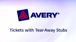 avery tickets template avery tickets with tear away stubs 1 3 4 x 5 1 2 matte white