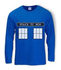 Tardis Halloween Costume Police Box Doctor Series Long Sleeve Shirt Tardis Easy