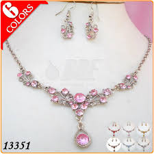 necklace gift sets images Fashion necklace set gold plated jewelry sets with pink acrylic jpg