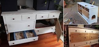 Kitty Litter Bench Cat Litter Box Furniture Diy Fpudining