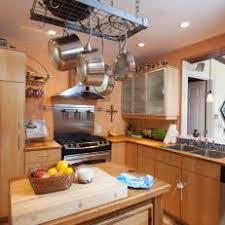 kitchen island with hanging pot rack photos hgtv