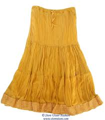 yellow mustard color long skirt maxi gypsy georgette yellow mustard color lehenga with