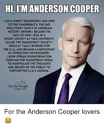 Anderson Cooper Meme - hi i m anderson cooper there s a few things you should know about