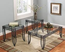3 Piece Dining Room Set by 3 Piece Metal U0026 Glass Coffee Table Set