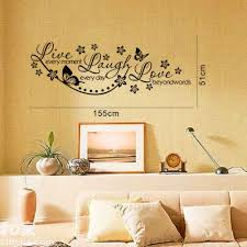 olivia diy wall decals quotes with butterflies flowers live olivia diy wall decals quotes with butterflies flowers live every moment laugh every day love beyond words vinyl removable stickers quotes