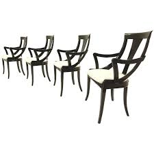 Black Lacquer Dining Room Chairs Sculptural Black Lacquer Dining Chairs By Pietro Costantini Made