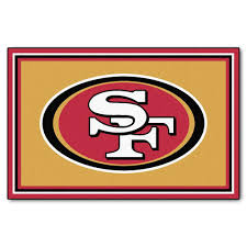Rubber Backed Area Rugs by Fanmats San Francisco 49ers 5 Ft X 8 Ft Area Rug 6603 The Home