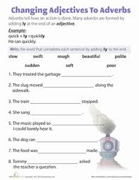 worksheets on adverbs worksheets