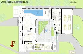 small courtyard house plans floor plan with pool in middle u shaped house plans courtyard