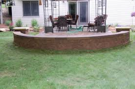 Terraced Retaining Wall Ideas by Brick Patio And Fieldstone Retaining Wall Professional Hardscaping