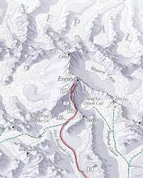 Map Of Everest Relief Maps U2014 David Lindroth Maps