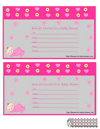 baby girl baby shower invitations printable girl baby shower invitations