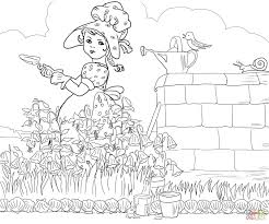 mary mary quite contrary nursery rhyme coloring page free
