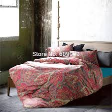 Moroccan Bed Linen - aliexpress com buy moroccan bedding full red bohemian boho style