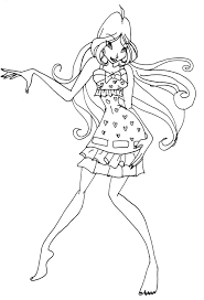 flora coloring pages winx flora pj by catasqueen on deviantart