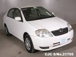 2002 toyota cars 2002 toyota corolla white for sale stock no 21705 japanese