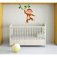 sticker singe décoration chambre bébé jungle