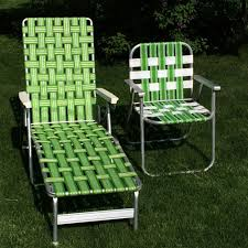 Outdoor Chair Webbing Vintage Green Webbed Web Cushion Aluminum Folding Chaise Lounge