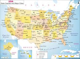 a usa map with states and capitals map usa states and cities major tourist attractions maps