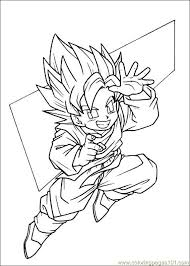 free coloring pages dragon ball characters 8042