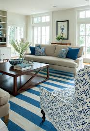 Blue And White Living Room Decorating Ideas Maine Beach House With Classic Coastal Interiors Home Bunch