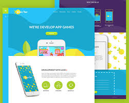 website templates free download psd colorful app website template free psd at downloadfreepsd com