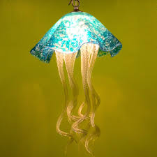 buy a hand made jellyfish pendant light turquoise jellyfish