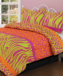 Zebra And Red Bedroom Set Beatrice Home Crazy Neon Comforter Set Comforter Neon And Bedrooms